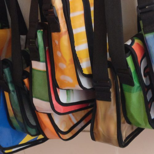Ekobags hanging on display