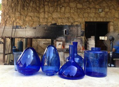 Pieces made by the Green Glass Recycling Initiative