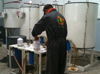 Testing turning used oil into biofuel