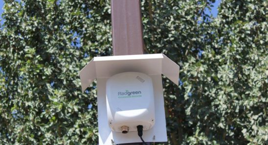 RadGreen outdoor device for detecting pollution