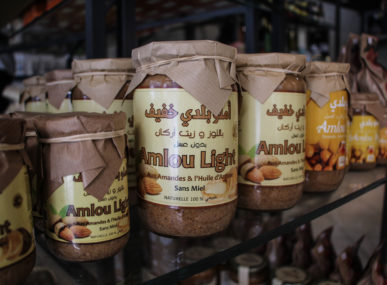 Amlou, a nut butter made from almonds, argan oil, and honey — a Moroccan speciality