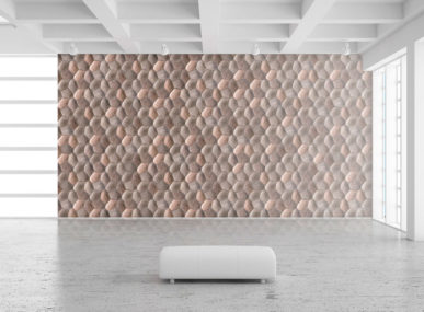 Criaterra tiles applied to create a textured wall