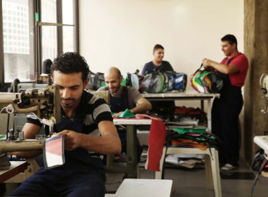 Many of Waste's tailors are immigrants, refugees, or unemployed Lebanese