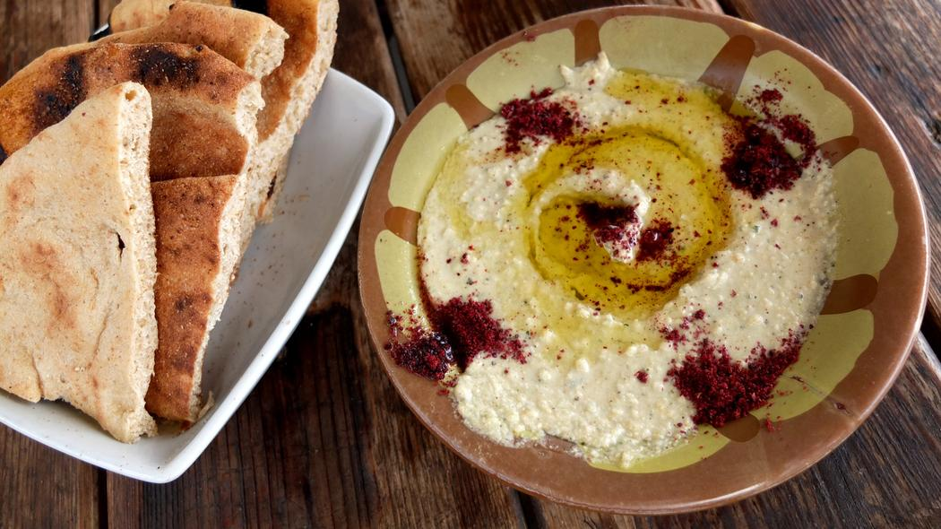 Image result for image of Hosh Jasmin  hummus with