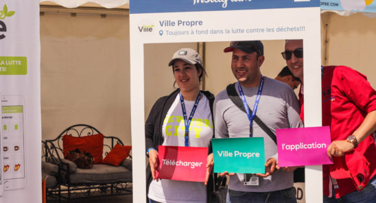 Finding new users for Ville Propre at the Race of Morroco in Marrakech