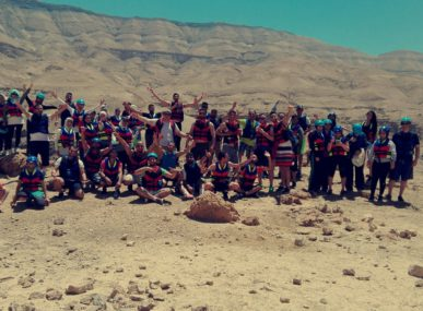 A recent tour group ready for their hike to Wadi Al Hidan