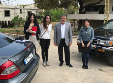 The SunRay Energy team after presenting to a municipality in Lebanon