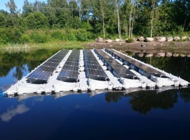 Fellah PRO's floating solar panels