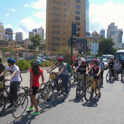 The urban cycling tour of Beirut was one of the activities The Chain Effect coordinated with a local school