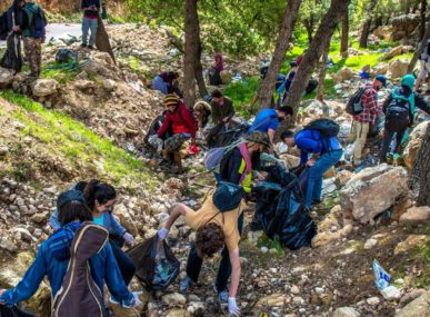 Between 35 and 100 hikers come to each Eco Hike in Jordan, which happens on a weekend