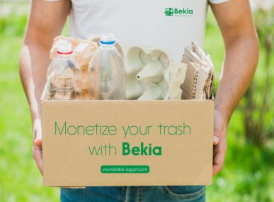 Bekia encourages Egyptians to monetize their trash through a mobile app