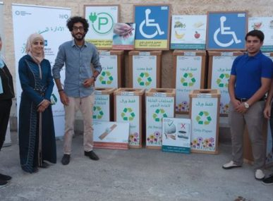 Qutoof Professional Development gets out into the Jordanian community and teaches ways of becoming more eco-friendly