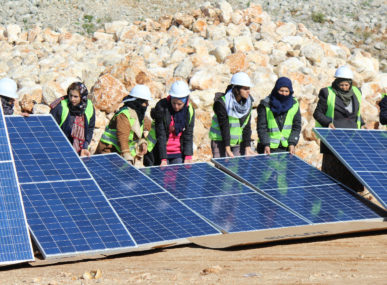 The RISE2030 team believes that women and solar energy are crucial to Lebanon's environment and job market.