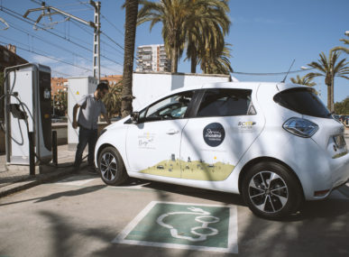 Som Mobilitat is a Spanish sustainable mobility cooperative that facilitates electric car-sharing for its members, and promotes non-motorised forms of transport.